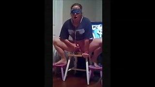 Chubby housewife squatting orgasm on dildo 2